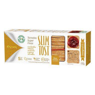 12  Torrada Slim Tost Integral com Grãos 110g  ( Promoção) - 10% desconto