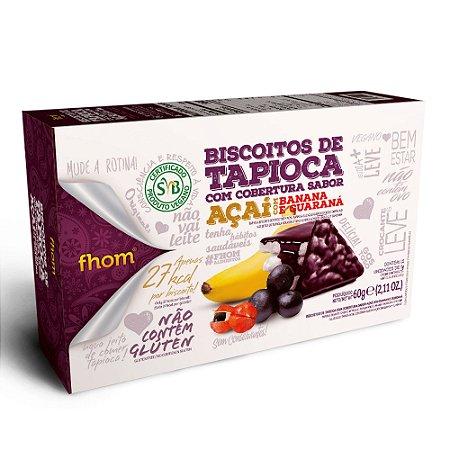 Biscoito de Tapioca com Açaí, Banana e Guaraná TRIO 60g