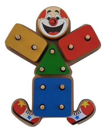 Brinquedos educativos 3 anos - prancha de seleção palhacinho