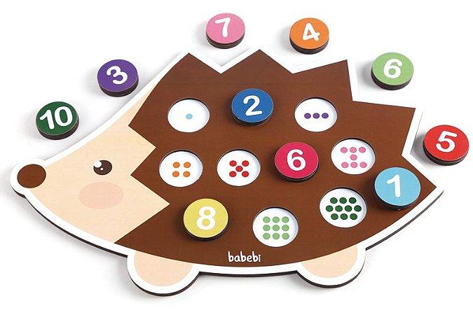 Brinquedos educativos 3 anos - conte até 10 com o ouriço