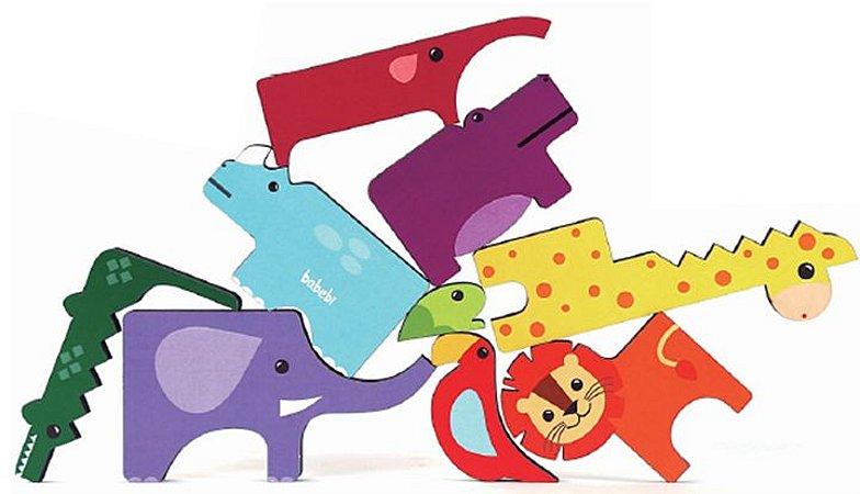 Monte e Empilhe Safári - Brinquedo de Montar e Empilhar Animais