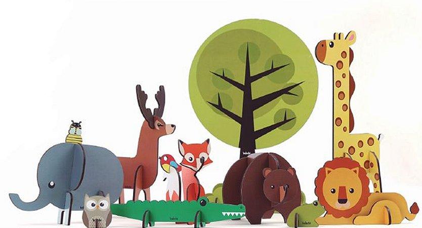 Quebra-cabeça infantil de animais selvagens - quebra-cabeça 3d