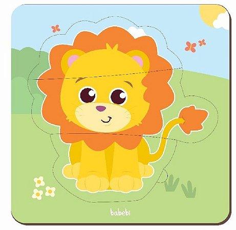 Quebra-cabeça de animais de 3 peças - baby leão
