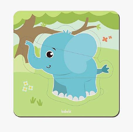 Quebra-cabeça de animais de 3 peças - baby elefante