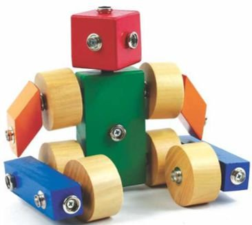Brinquedos educativos 3 anos - robô - click formas 1