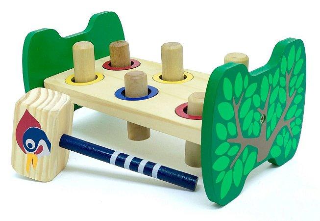Brinquedo Educativo de Madeira Bate Pinos