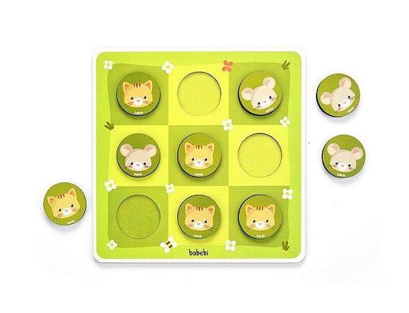 Brinquedos educativos 4 anos - Jogo da velha entre gato e rato