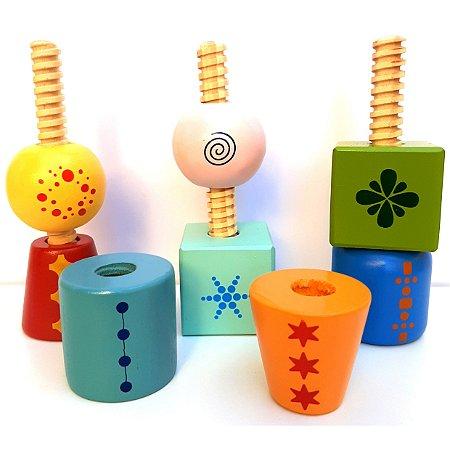 Gire e Crie Blocks - Blocos de montar - Brinquedo educativo