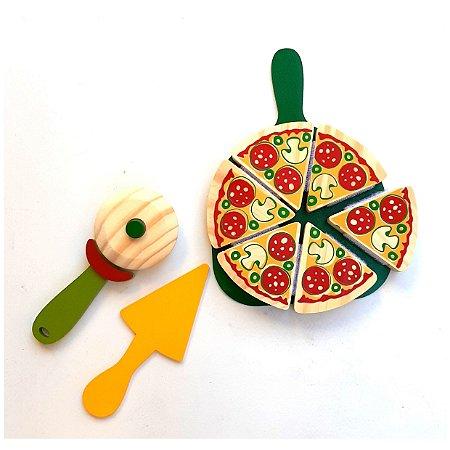 Brinquedos educativos 3 anos - Brinquedo de pizza com corte