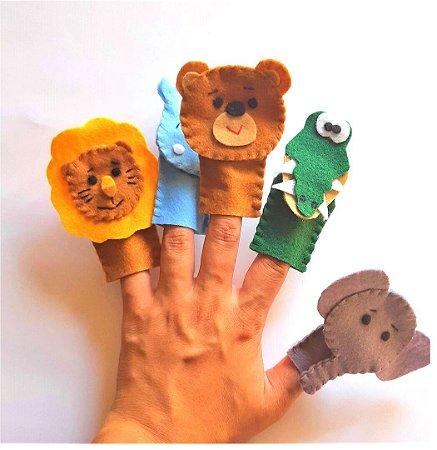 Brinquedo Educativo Fantoche De Dedo - Dedoches Animais Selvagens