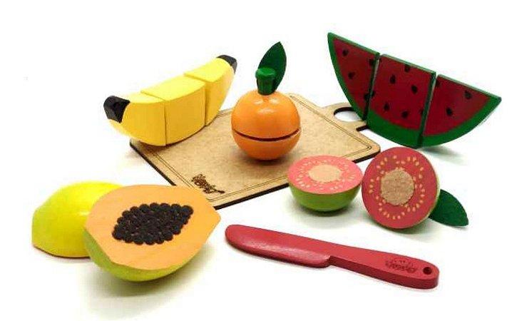 Frutinhas de brinquedo com velcro - kit com 7 peças