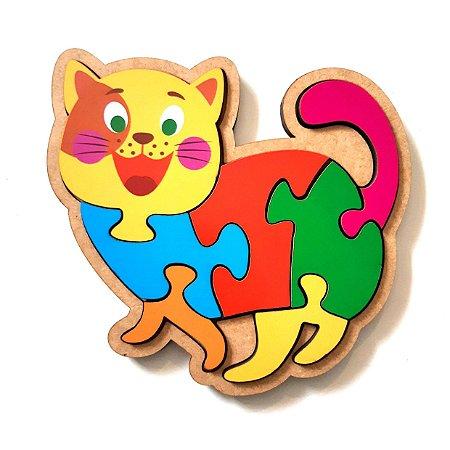 Quebra-cabeça infantil de animais - Gato
