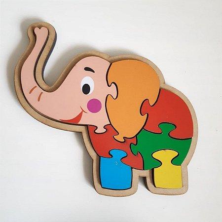 Quebra-cabeça infantil de animais - Elefante