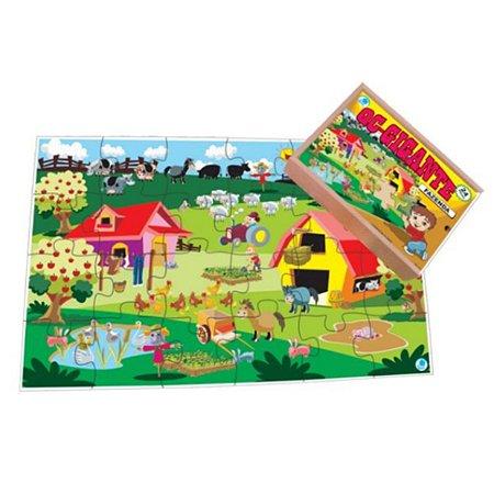 Quebra-cabeça Infantil Gigante Fazenda - 24 Peças