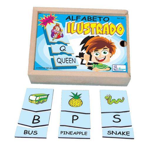 Alfabeto Ilustrado em Inglês - Brinquedo Pedagógico