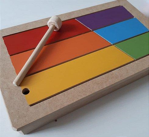 Tambor de Língua - Instrumento Musical Infantil de Percussão