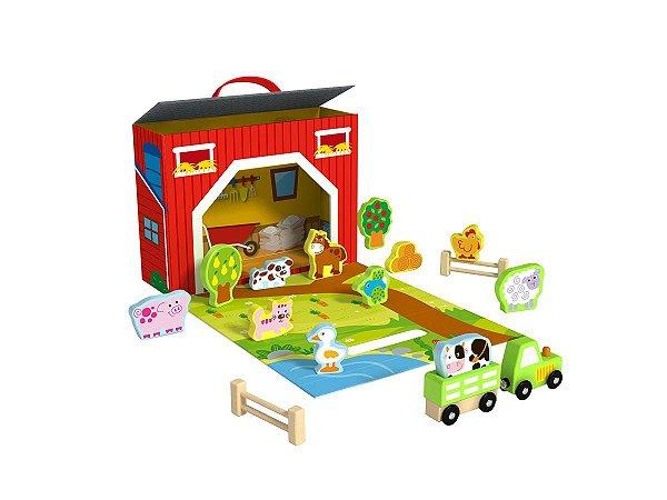 Brinquedo Educativo Caixa Divertida Fazendinha
