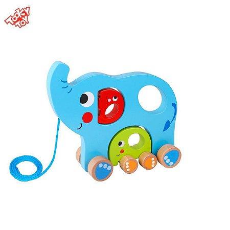 Brinquedo de Puxar Animais e Filhotes - Família Elefante