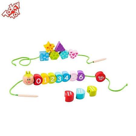 Brinquedo para Coordenação Motora Alinhavo Formas e Números