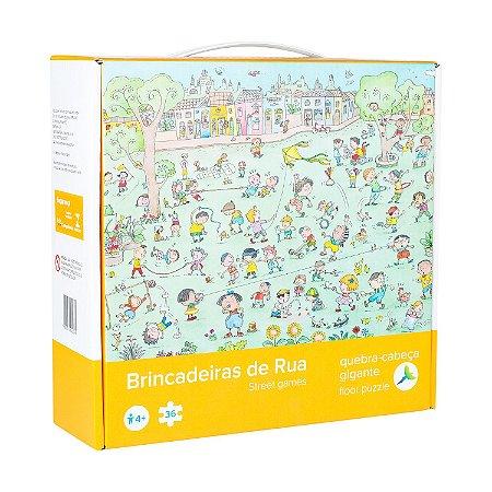 Quebra-Cabeça Infantil Gigante Brincadeiras de Rua - 36 peças