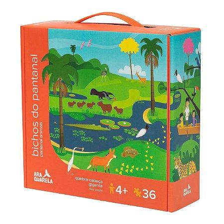 Quebra-Cabeça Infantil de Animais do Pantanal - 36 peças