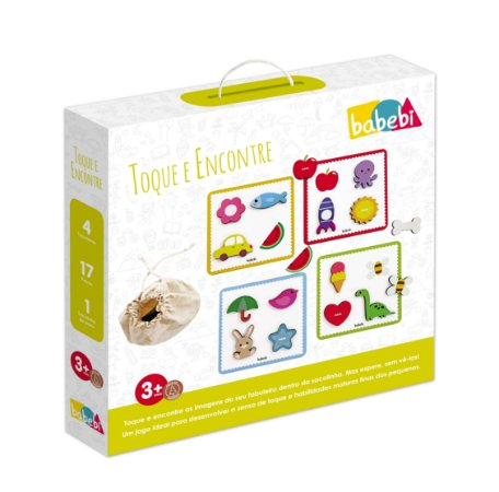 Brinquedo Educativo de Madeira Toque e Encontre