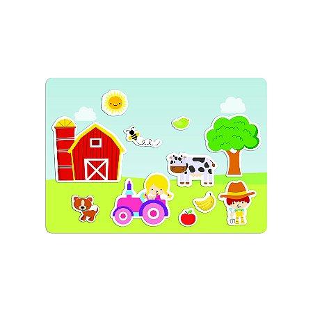 Brinquedo Educativo Quadro Infantil Animais na Fazenda