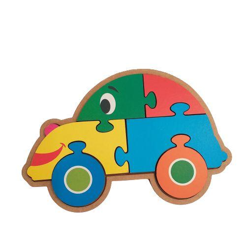 Quebra-cabeça infantil de madeira - Carro