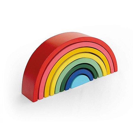 Brinquedo Educativo de Madeira Arco Íris Colorido