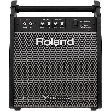 Amplificador Roland Para Bateria Eletrônica V-Drums Pm-100