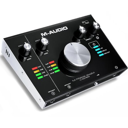 Interface de Gravação M-Audio Mtrack 2x2 M Midi Usb