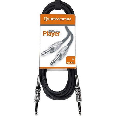 Cabo para Guitarra Hayonik Player P10 x P10 3m