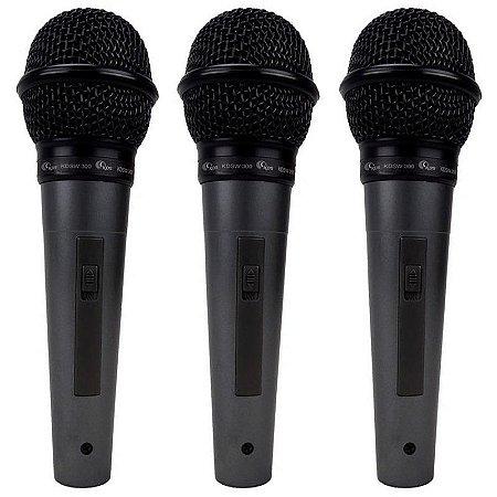 Kit Microfone Kadosh Kds-300 Com 3 Peças