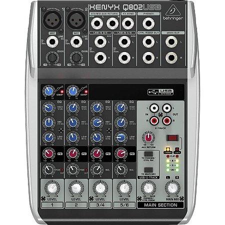 Mesa De Som Behringer Xenyx Q802 Usb Mixer