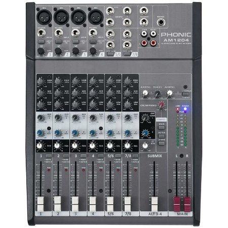 Mesa De Som Phonic Am1204 8 Canais 110v