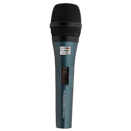 Microfone Dinâmico Kadosh K-3.1 Com Fio