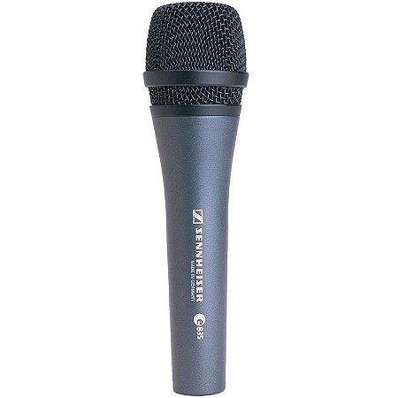 Microfone Profissional Sennheiser E835 com Estojo e Cachimbo