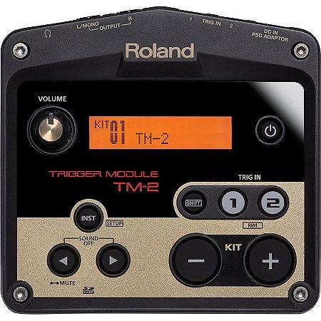 Módulo Trigger Roland Para Bateria Acústica Eletrônica Híbrida TM-2
