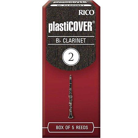 Palheta Plasticover Clarinete Bb 2 Rico Rrp05bcl200 C/ 5 Unidades