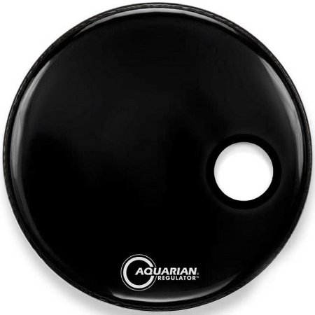 Pele Aquarian Regulator Resonant Black 22 Resposta De Bumbo