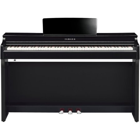 Piano Digital Yamaha Clavinova Clp-625pe Polished Ebony Com Estante E Banco