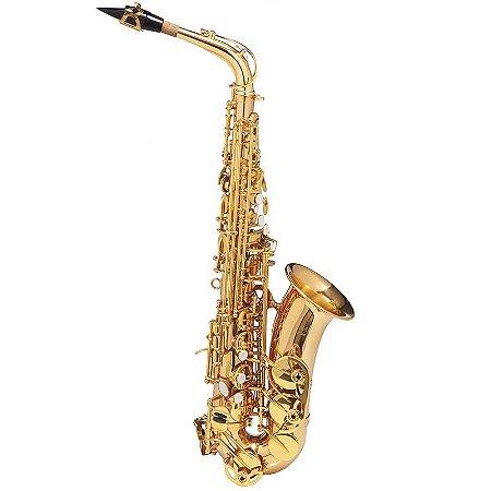 Saxofone Alto Michael Dourado Wasm48 Em Eb Com Case Mochila
