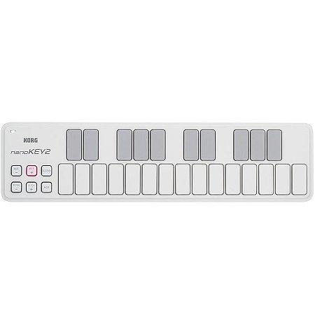 Teclado Controlador Korg Nanokey2-Wh Usb Midi Branco