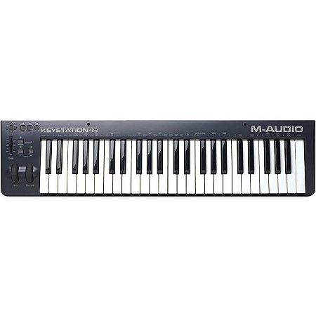 Teclado Controlador M-audio Keystation 49II Midi Usb Com 49 Teclas