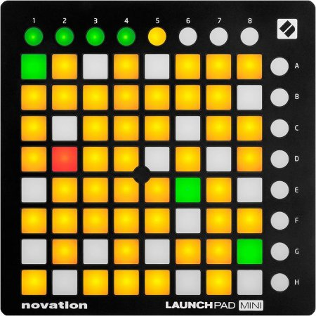 Teclado Controlador Midi USB Novation Launchpad Mini Mk2