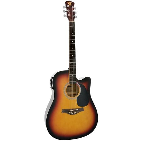 Violão Folk Elétrico Phoenix Aço Px-199 Sunburst