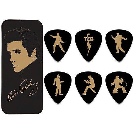 Kit De Palhetas Dunlop Elvis Presley Media Com 6 Unidades 8161