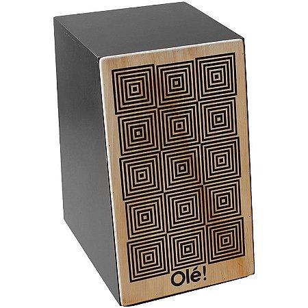 Cajon Percussion Olé Ol101 Natural Acústico