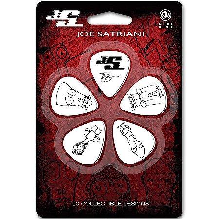 Palhetas Planet Waves Signature Joe Satriani Branca