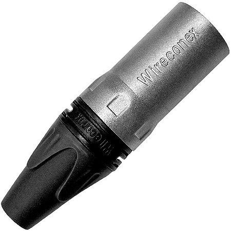 Conector XLR Macho 3 Polos Wireconex Wc 1013